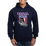 Patriotic USA Snowboarder Hoodie (dark)