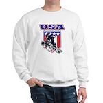 Patriotic USA Snowboarder Sweatshirt