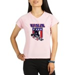 Patriotic USA Snowboarder Performance Dry T-Shirt