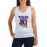Patriotic USA Snowboarder Women's Tank Top