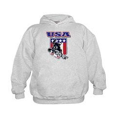 Patriotic USA Snowboarder Hoodie