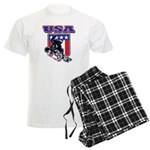Patriotic USA Snowboarder Men's Light Pajamas
