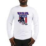 Patriotic USA Snowboarder Long Sleeve T-Shirt