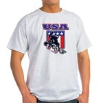 Patriotic USA Snowboarder Light T-Shirt