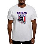 Patriotic USA Snowboarder Light T-Shirt