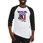 Patriotic USA Snowboarder Baseball Jersey