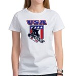 Patriotic USA Snowboarder Women's T-Shirt