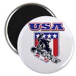 Patriotic USA Snowboarder Magnet