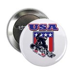 Patriotic USA Snowboarder 2.25