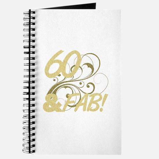 60 And Fabulous (Glitter) Journal