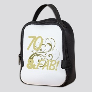 70 And Fabulous (Glitter) Neoprene Lunch Bag