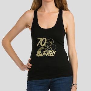 70 And Fabulous (Glitter) Racerback Tank Top
