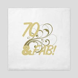 70 And Fabulous (Glitter) Queen Duvet