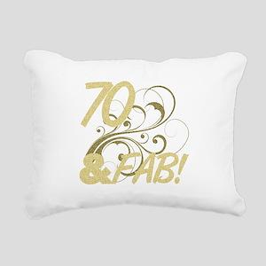 70 And Fabulous (Glitter Rectangular Canvas Pillow