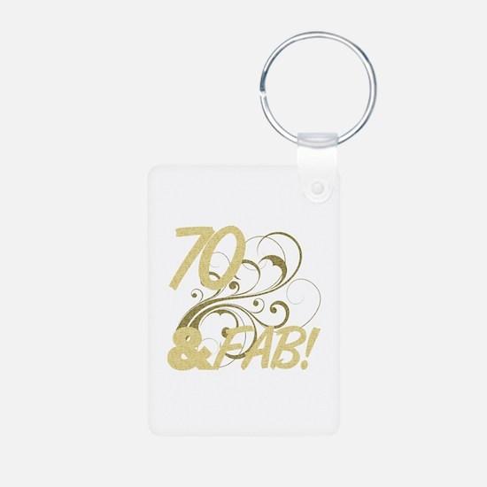 70 And Fabulous (Glitter) Keychains