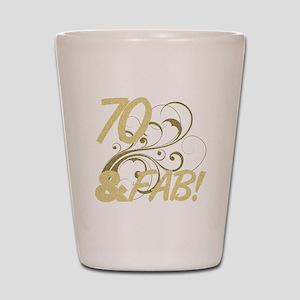 70 And Fabulous (Glitter) Shot Glass