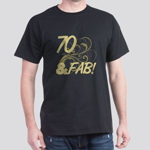 70 And Fabulous (Glitter) Dark T-Shirt