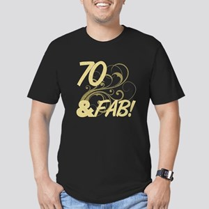 70 And Fabulous (Glitt Men's Fitted T-Shirt (dark)