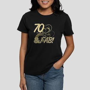 70 And Fabulous (Glitter) Women's Dark T-Shirt
