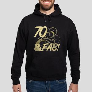 70 And Fabulous (Glitter) Hoodie (dark)