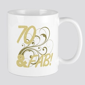 70 And Fabulous (Glitter) Mug