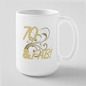 70 And Fabulous (Glitter) Large Mug