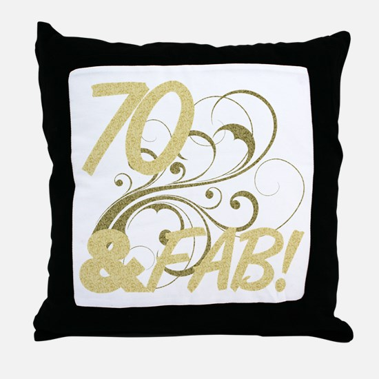70 And Fabulous (Glitter) Throw Pillow