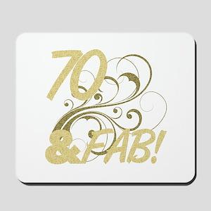 70 And Fabulous (Glitter) Mousepad