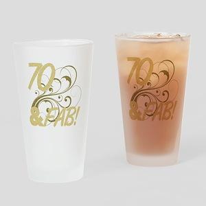70 And Fabulous (Glitter) Drinking Glass