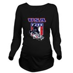 Patriotic USA Snowbo Long Sleeve Maternity T-Shirt