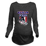 Patriotic USA Snowbo Long Sleeve Maternity T-Shirt