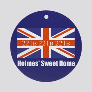 Holmes' Sweet Home Ornament (Round)