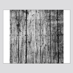 Black and white nailed wood fence texture Posters