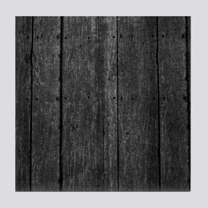 Gray nailed wood fence texture Tile Coaster