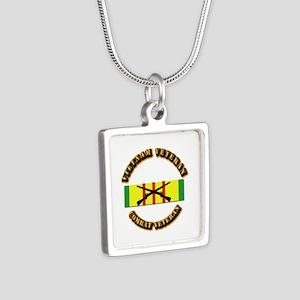 Vietnam - Infantry Silver Square Necklace