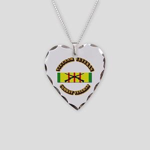 Vietnam - Infantry Necklace Heart Charm
