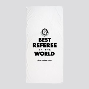 Best Referee in the World Beach Towel