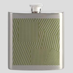 Drab Green Spring Stripe Flask