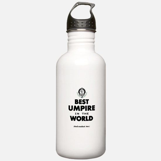 Best Umpire in the World Water Bottle