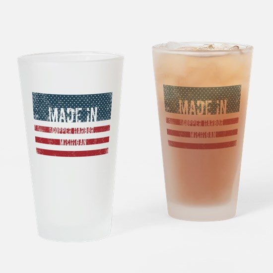 Made in Copper Harbor, Michigan Drinking Glass