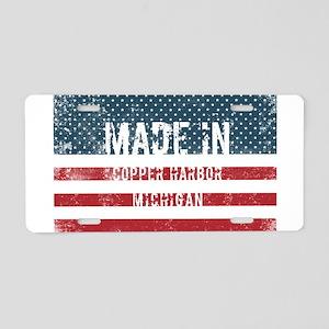 Made in Copper Harbor, Mich Aluminum License Plate