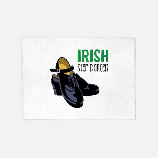 Irish Step Dancer 5'x7'Area Rug