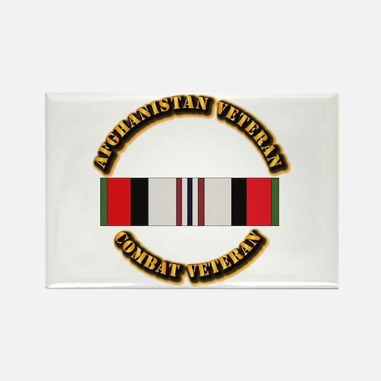 Afhganistan Veteran Rectangle Magnet
