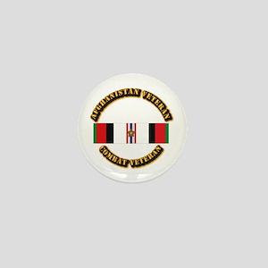 Afhganistan Veteran w Campaign Star Mini Button