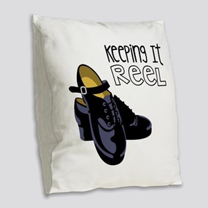 Keeping it Reel Burlap Throw Pillow