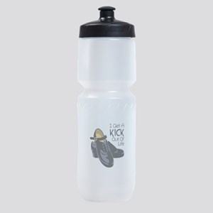 I Get a Kick Out of Life Sports Bottle