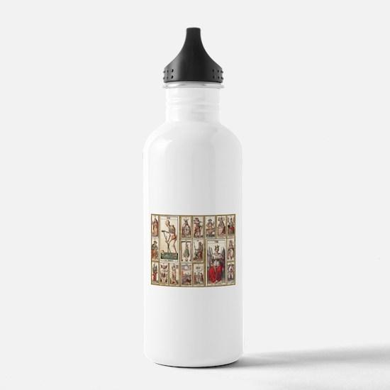 Italian Tarot, Vintage Water Bottle