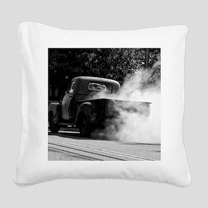 Smokin Truck Square Canvas Pillow