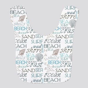 Beach Typography Bib