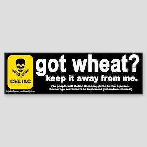 """""""got wheat?"""" Bumper Sticker"""